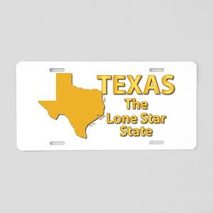 State - Texas - Lone StarSt Aluminum License Plate