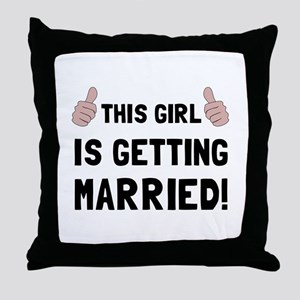 Girl Getting Married Throw Pillow