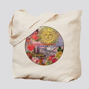 Spain Vintage Trendy Spain Travel Collage Tote Bag