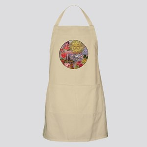 Spain Vintage Trendy Spain Travel Collage Apron