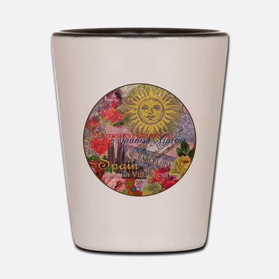 Spain Vintage Trendy Spain Travel Collage Shot Gla