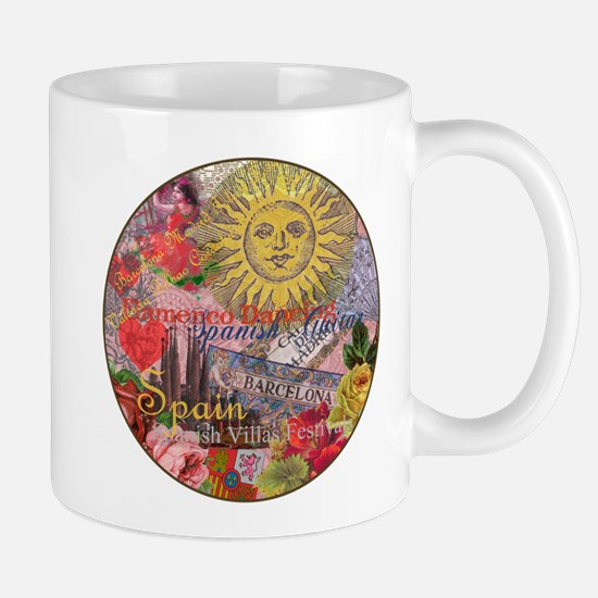 Spain Vintage Trendy Spain Travel Collage Mugs