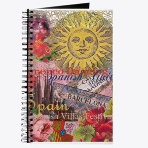 Spain Vintage Trendy Spain Travel Collage Journal