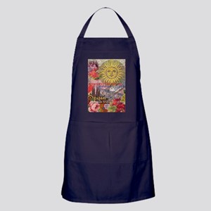 Spain Vintage Trendy Spain Travel Collage Apron (d