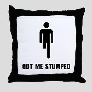 Got Me Stumped Throw Pillow