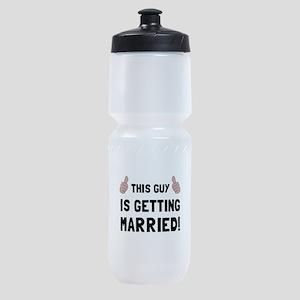 Guy Getting Married Sports Bottle