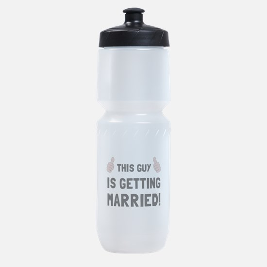 Guy Getting Married Sports Bottle