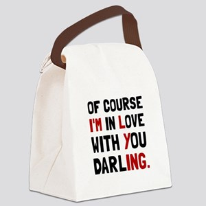 Love Darling Canvas Lunch Bag