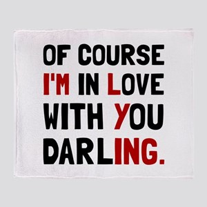 Love Darling Throw Blanket