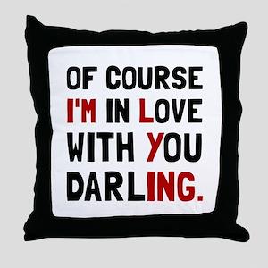 Love Darling Throw Pillow