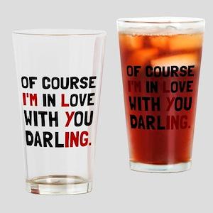 Love Darling Drinking Glass
