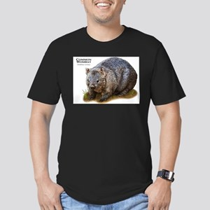 Common Wombat Men's Fitted T-Shirt (dark)