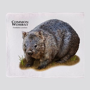 Common Wombat Throw Blanket