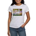 Whippet in Monet's Garden Women's T-Shirt