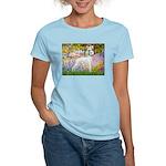 Whippet in Monet's Garden Women's Light T-Shirt