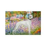 Whippet in Monet's Garden Rectangle Magnet