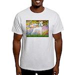 Whippet in Monet's Garden Light T-Shirt