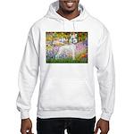 Whippet in Monet's Garden Hooded Sweatshirt
