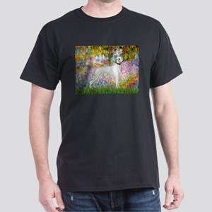Whippet in Monet's Garden Dark T-Shirt