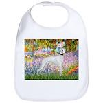 Whippet in Monet's Garden Bib