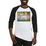 Whippet in Monet's Garden Baseball Jersey