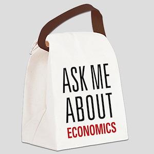 Economics - Ask Me About - Canvas Lunch Bag