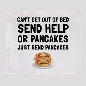 Send Pancakes Throw Blanket