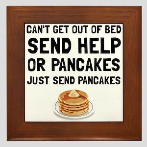 Send Pancakes Framed Tile