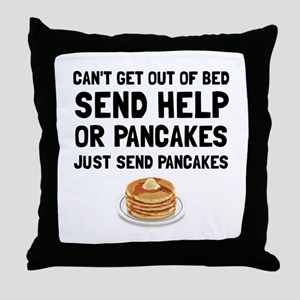 Send Pancakes Throw Pillow