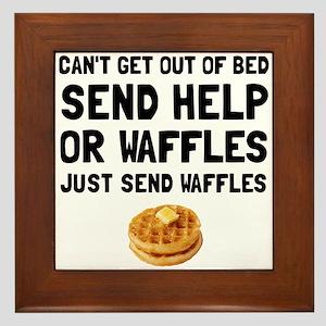 Send Waffles Framed Tile
