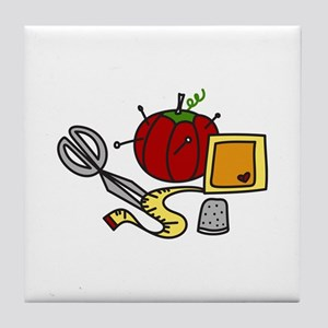 Sewing Supplies Tile Coaster