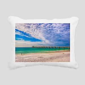 Island Beach Walk Rectangular Canvas Pillow