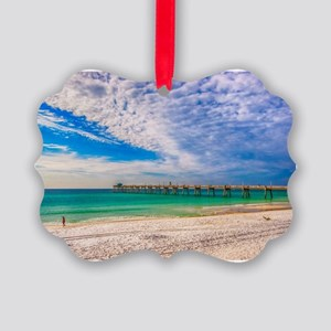 Island Beach Walk Picture Ornament