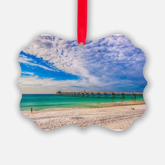 Island Beach Walk Ornament