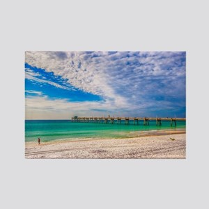 Island Beach Walk Rectangle Magnet