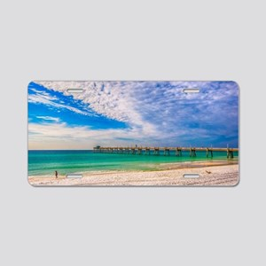 Island Beach Walk Aluminum License Plate