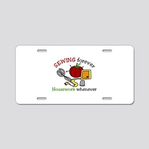 Sewing Forever Aluminum License Plate