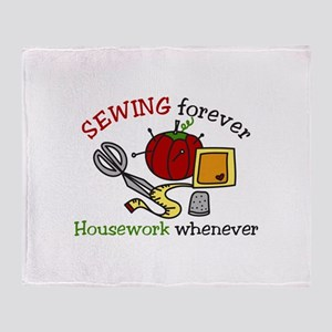 Sewing Forever Throw Blanket