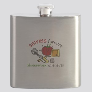 Sewing Forever Flask