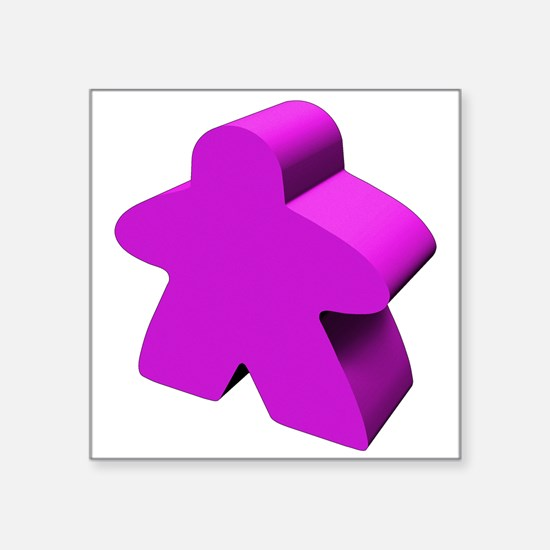 "Purple Meeple Square Sticker 3"" x 3"""
