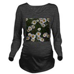 Shasta Daisies Long Sleeve Maternity T-Shirt