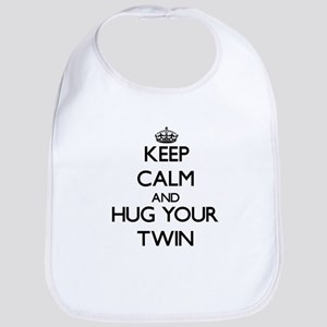 Keep Calm and Hug your Twin Bib