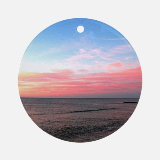 PINK SKIES Ornament (Round)