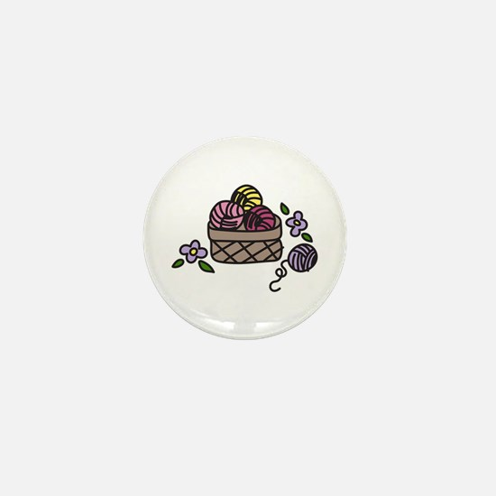Knitting Yarn Mini Button