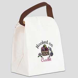 Hooked On Crochet Canvas Lunch Bag