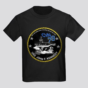Ford Keel Laying Crest Kids Dark T-Shirt