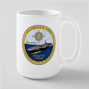 USS Gerald R. Ford CVN 78 15 oz Ceramic Large Mug