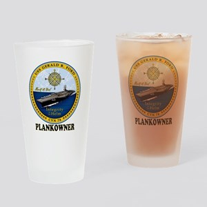 Ford Plank Owner Crest Drinking Glass