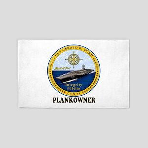 Ford Plank Owner Crest Area Rug