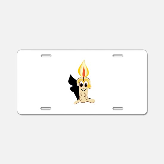 Drippy Candle Base Aluminum License Plate